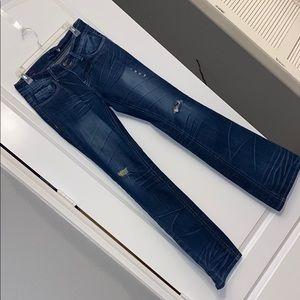 Vigoss distresses bootcut jean, long/tall | 9